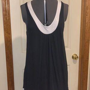 Express Black Dress with Sequin Trim